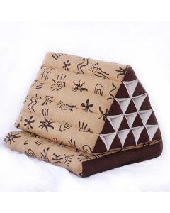 King Triangle Pillow One Fold Batik