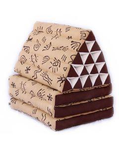 King Triangle Pillow Three Fold Batik