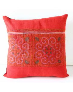 Throw Pillow Hilltribe Hemp Fabric Cover